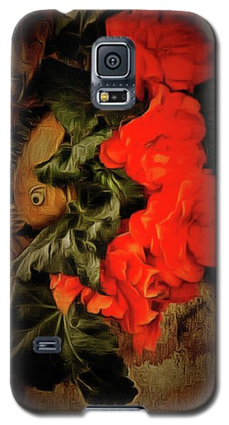 Galaxy S5 Case featuring the photograph Red Begonias by Thom Zehrfeld