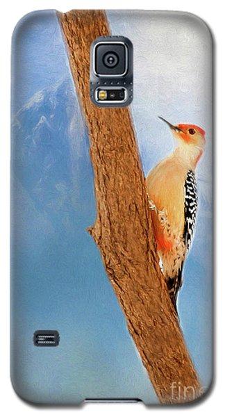 Galaxy S5 Case featuring the digital art Red Bellied Woodpecker by Darren Fisher