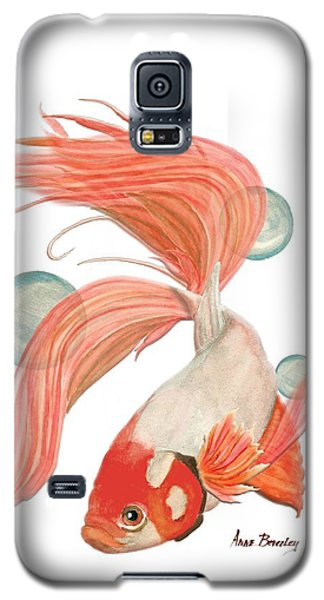 Red Beta Fish Galaxy S5 Case