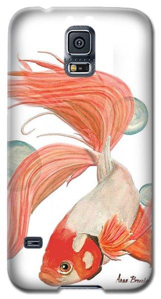 Red Beta Fish Galaxy S5 Case