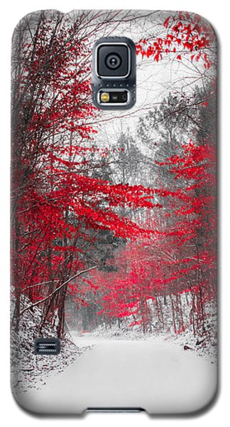Red Blossoms  Galaxy S5 Case