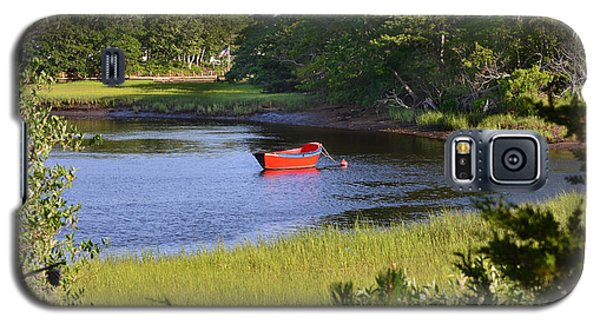 Red Boat On The Herring River Galaxy S5 Case