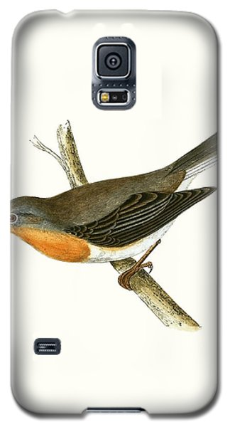 Red Breasted Flycatcher Galaxy S5 Case by English School