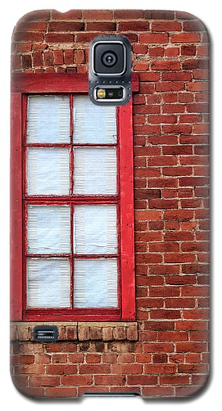 Red Brick And Window Galaxy S5 Case by James Eddy