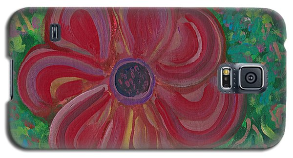 Galaxy S5 Case featuring the painting Red Brilliance by John Keaton