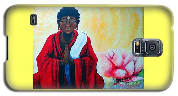 Red Buddha Lotus Galaxy S5 Case by Jackie Carpenter