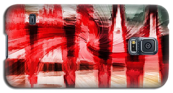 Red Buildings Galaxy S5 Case by Cherie Duran