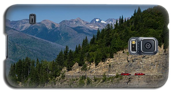Red Buses, Glacier National Park Galaxy S5 Case