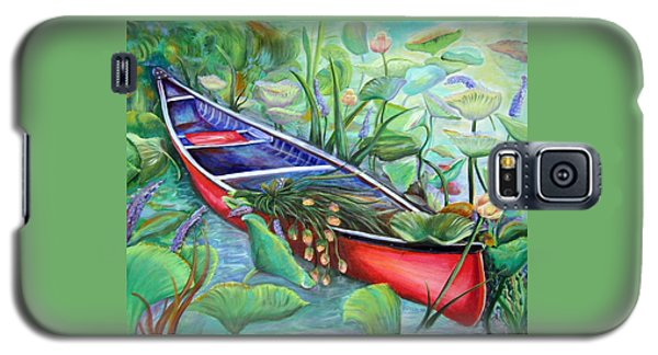 Red Canoe Galaxy S5 Case by Patricia Piffath