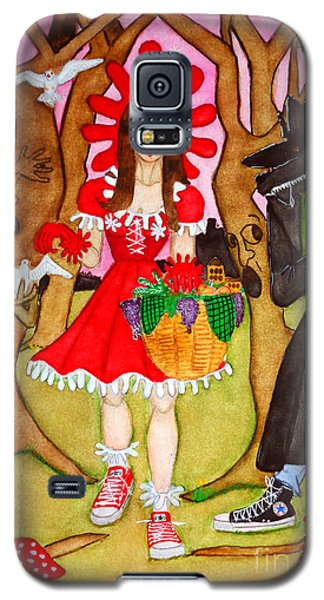 Galaxy S5 Case featuring the painting The Little Riding Hood And The Wolf In Chucks by Don Pedro De Gracia