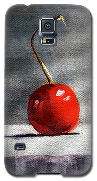 Galaxy S5 Case featuring the painting Red Cherry by Nancy Merkle