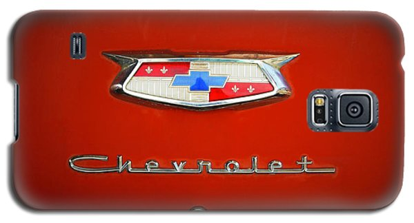 Galaxy S5 Case featuring the photograph Red Chevy Bel-air Trunk by Marilyn Hunt