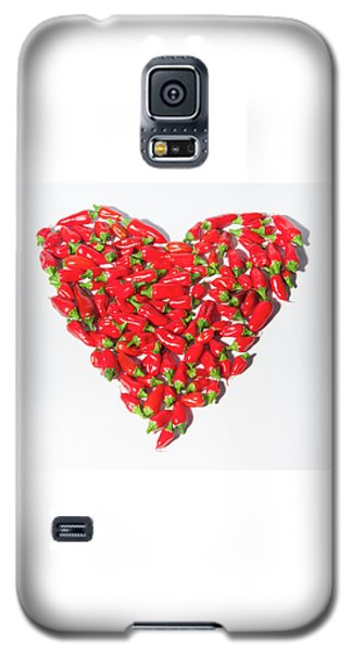 Red Chillie Heart II Galaxy S5 Case