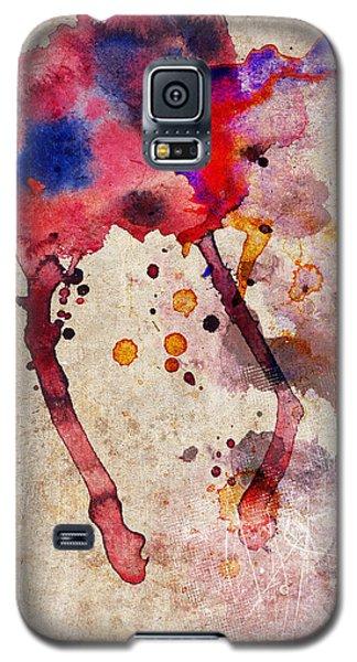 Red Color Splash Galaxy S5 Case