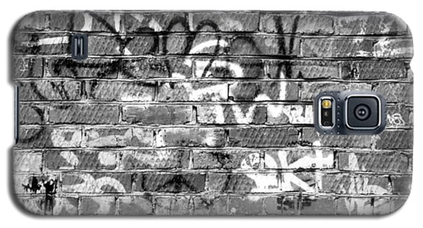Red Construction Brick Wall And Spray Can Art Signatures Galaxy S5 Case