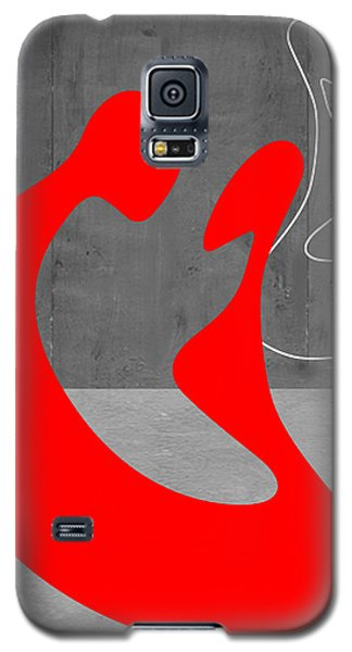 Brown Snake Galaxy S5 Case - Red Couple by Naxart Studio