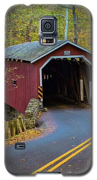 Red Covered Bridge In Lancaster County Park Galaxy S5 Case