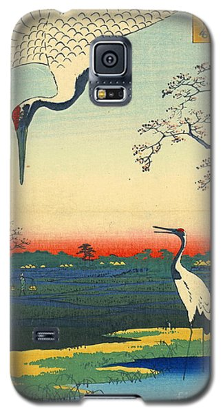 Red Crowned Cranes 1857 Galaxy S5 Case by Padre Art