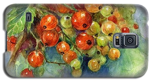 Red Currants Berries Watercolor Galaxy S5 Case