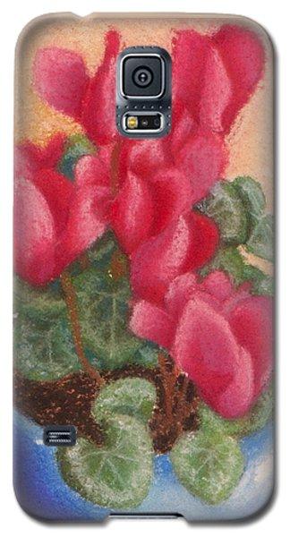 Red Cyclamen Blue Pot Galaxy S5 Case
