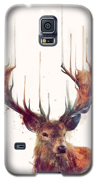 Red Deer Galaxy S5 Case by Amy Hamilton