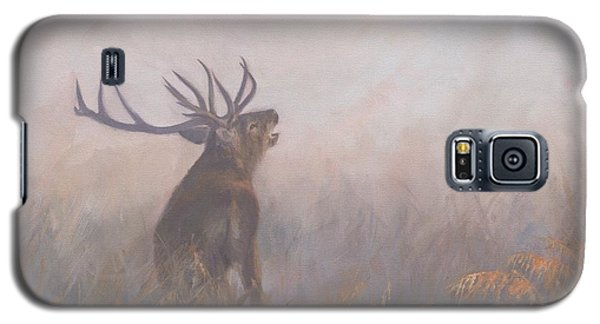 Galaxy S5 Case featuring the painting Red Deer Stag Early Morning by David Stribbling