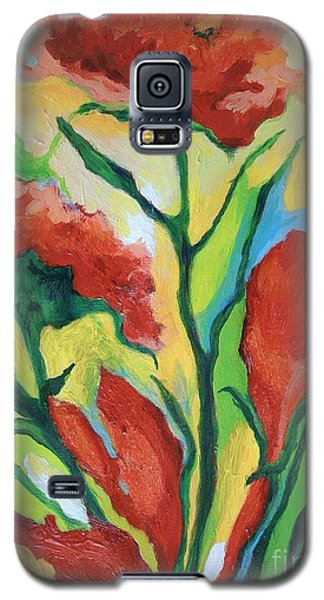 Red Delight Galaxy S5 Case by Alison Caltrider