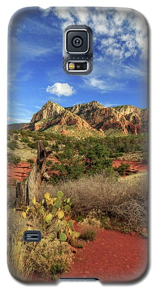 Galaxy S5 Case featuring the photograph Red Dirt And Cactus In Sedona by James Eddy