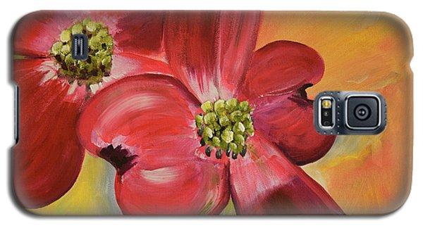 Red Dogwood - Canvas Wine Art Galaxy S5 Case