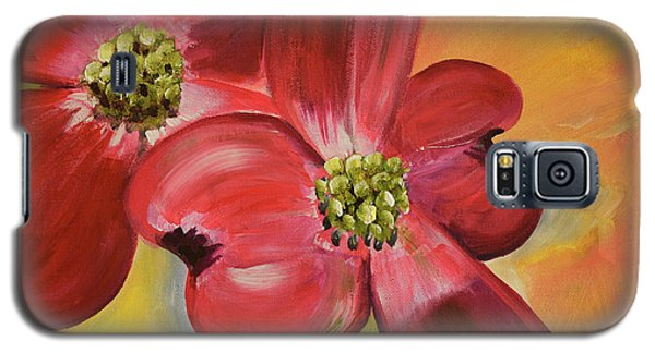 Red Dogwood - Canvas Wine Art Galaxy S5 Case