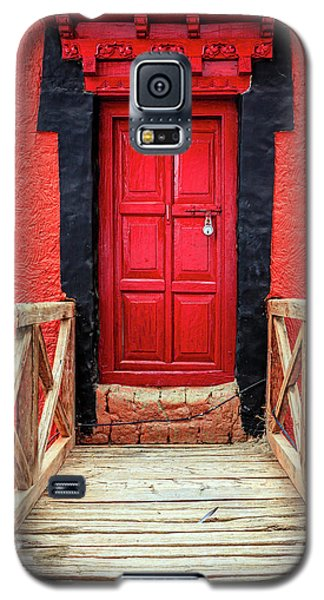Galaxy S5 Case featuring the photograph Red Door At A Monastery by Alexey Stiop