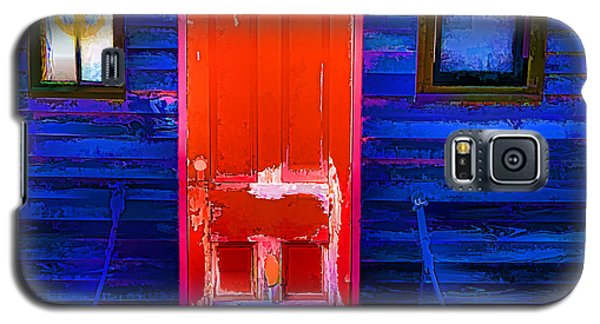 Galaxy S5 Case featuring the photograph Red Door Harbor by Rick Bragan