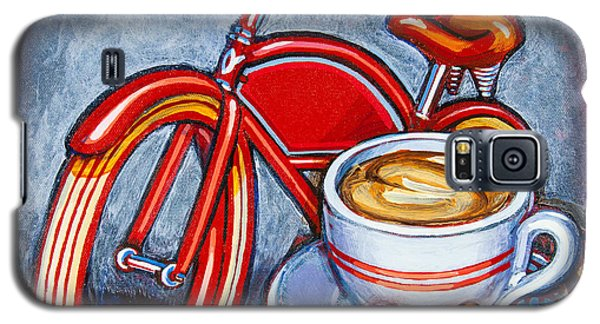 Red Electra Delivery Bicycle Cappuccino And Amaretti Galaxy S5 Case
