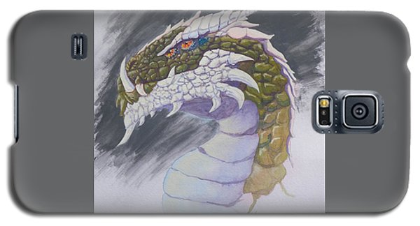 Galaxy S5 Case featuring the painting Red Eye Dragon by Robert Decker