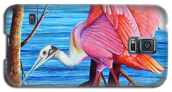Galaxy S5 Case featuring the painting Red Eye Squared by AnnaJo Vahle