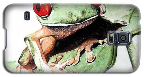 Red Eyes Galaxy S5 Case by Ilaria Andreucci