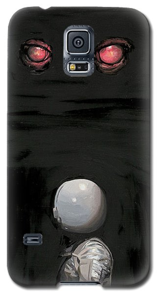 Galaxy S5 Case featuring the painting Red Eyes by Scott Listfield