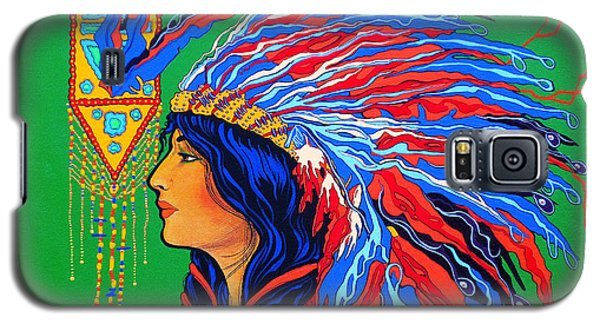 Galaxy S5 Case featuring the painting Red Feathers by Debbie Chamberlin