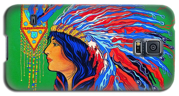 Red Feathers Galaxy S5 Case by Debbie Chamberlin