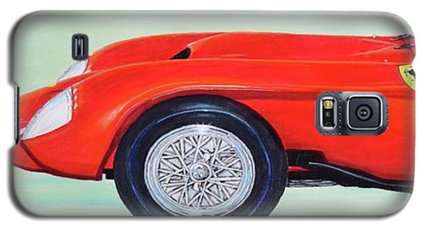 Galaxy S5 Case featuring the painting Red Ferrari by Mary Scott