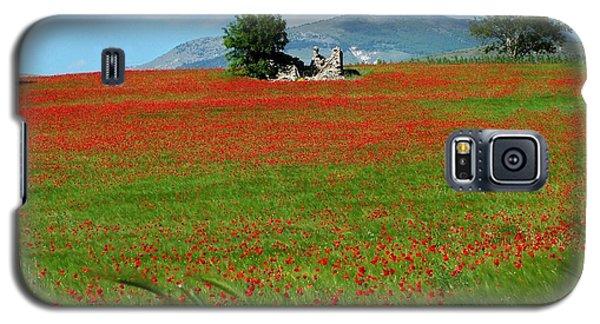 Red Fields Galaxy S5 Case