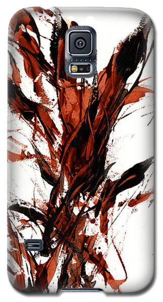 Galaxy S5 Case featuring the painting Red Flame 66.121410 by Kris Haas