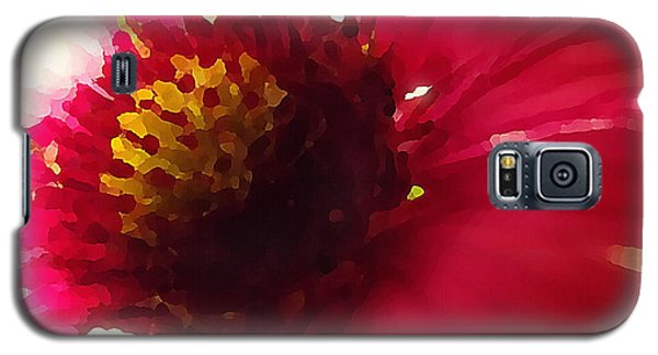 Red Flower Abstract Galaxy S5 Case