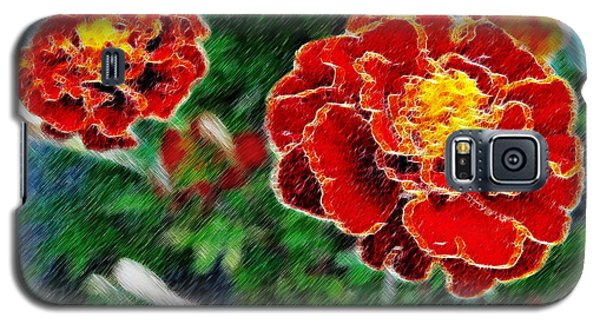 Galaxy S5 Case featuring the photograph Red Flower In Autumn by Joan  Minchak
