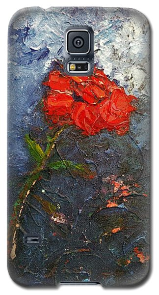 Red Flower Galaxy S5 Case