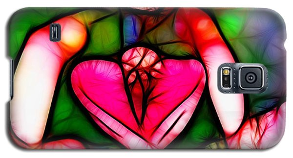 Galaxy S5 Case featuring the photograph Red Flower Up Close by Mariola Bitner