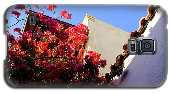 Red Flowers And Architecture In Saint Augustine Florida Galaxy S5 Case