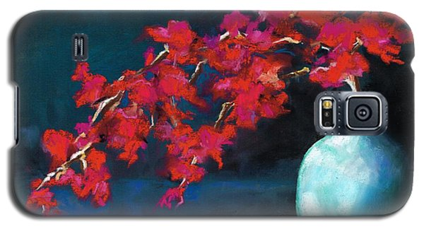 Galaxy S5 Case featuring the painting Red Flowers by Frances Marino