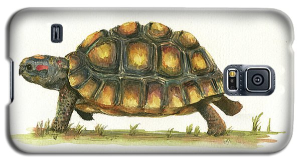 Reptiles Galaxy S5 Case - Red Footed Tortoise  by Juan Bosco