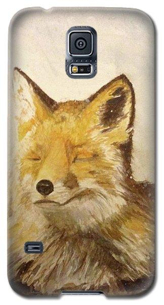 Red Fox Rest Galaxy S5 Case by Annie Poitras
